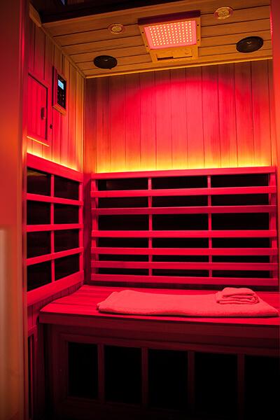 Infrared Sauna With Salt Wall In Nh Hotel Zandvoort The: Clearlight Far Infrared Sauna